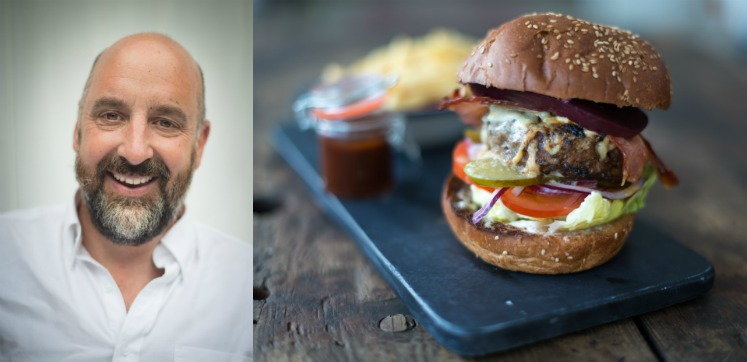 Sports Snack Recipe by Tom Lewis: Haggis and Highland Beef Burger