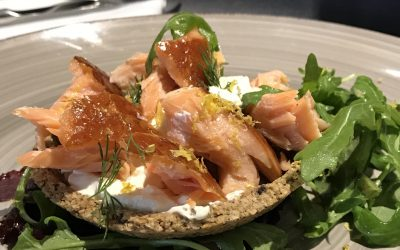 Breakfast Recipe by Jacqueline O'Donnell: Hot Smoked Salmon Tartlet